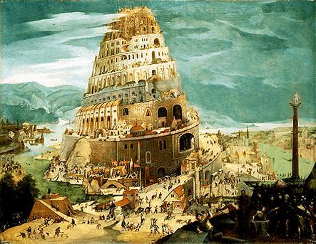 The tower of Babel (photo source unknown)